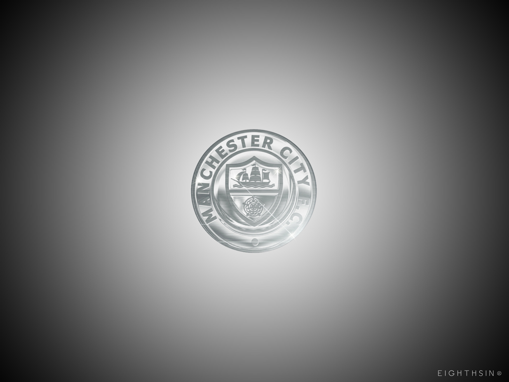 mcfc retro chrome wallpaper Manchester City Desktop Wallpaper